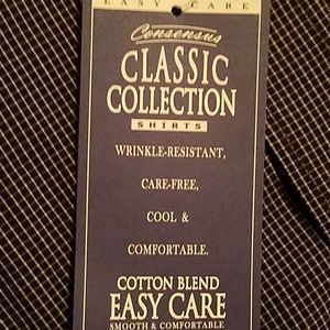 Consensus Shirts - Sz LT Button up coloured button easy care